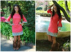 Color Me Beautiful Dress in Coral by Missy Robertson- $118.99!
