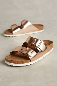 official photos 130f8 72e42 Birkenstock Metallic Arizona Sandals