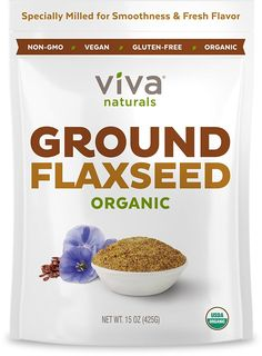 Viva Naturals - The BEST Organic Ground Flax Seed, 15 oz - Proprietary Cold-milled Technology > Startling review available here  : Herbal Supplements