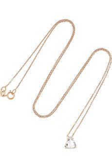 Anita Ko 18-karat rose gold diamond necklace | NET-A-PORTER