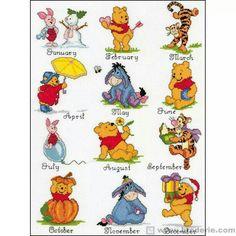 Pooh through the Months 1/12