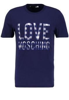 Love Moschino SLIM FIT TShirt print elettric blue Premium bei Zalando.de | Material Oberstoff: 95% Baumwolle, 5% Elasthan | Premium jetzt versandkostenfrei bei Zalando.de bestellen!