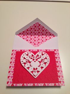 Valentine Card with Lacy heart