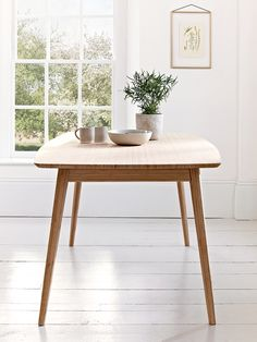 Our Aalto range combines Scandinavian design, sustainability and quality for a timeless and stylish collection that is suitable for any space in your home. Our large rectangular dining table is crafted from durable carbonised bamboo with four elegant tapered legs and a natural bamboo wood top. The perfect update to your kitchen or dining space that comfortably seats four, it is also available to purchase as part of our Aalto Table with Four Dining Chairs. This product is not available for…