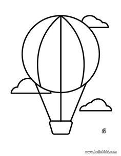 Desenho de um balão de um balão de ar quente para colorir