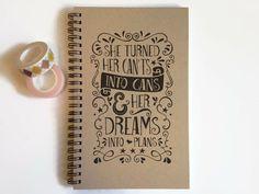 Writing journal spiral notebook sketchbook by JournalandCompany