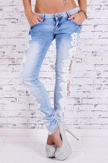 E Denim Jeans Para Mulheres   moda cintura alta das calças de brim e jeans Vestidos Moda On-line   ZAFUL