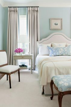 BeautifulBlue Bedrooms: Neutral Blue Master Bedroom