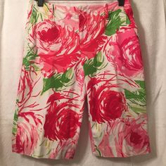 Shorts.  Bermuda Size 4 waffle knit Cotten and spandex Bermuda shorts perfect condition.  Great spring and summer colors. For the Republic Other