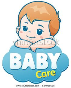 Vector Illustration of Cartoon Cute Baby. Baby care logo concept , – Best Baby And Baby Toys Baby Baby, Baby Sleep, Baby Toys, Baby Shower Cards, Baby Boy Shower, Illustration Cartoon, Baby Banners, Belly Painting, Baby Care Tips