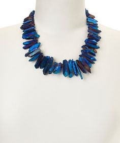 of earth Blue Quartz Shard Necklace by of earth #zulily #zulilyfinds