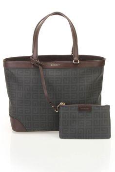 Givenchy Medium Logo Tote In Black & Brown