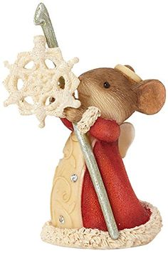 Christmas Mouse with Jingle Bell Figurine | Jingle bells, Mice and ...