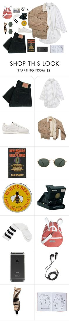 """art kid"" by argentates ❤ liked on Polyvore featuring Levi's, NIKE, Ray-Ban, Burt's Bees, Polaroid, Wet Seal, DEOS, Aesop and Assouline Publishing"