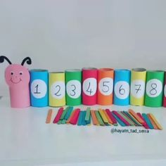 Let's learn numbers! by Kids Sydney Toddler Learning Activities, Learning Centers, Early Learning, Abc For Kids, Games For Kids, Crafts For Kids, Teaching Numbers, Kids English, Kids Education