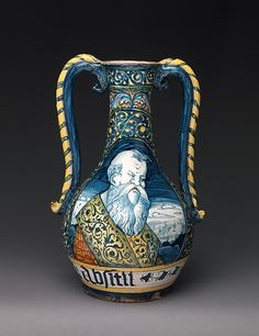 Storage vessels were among the most frequently produced maiolica wares in late medieval and Renaissance Italy. Made in fairly standard shapes, they were designed to fit with dozens of others on a shelf, often in a pharmacy or shop
