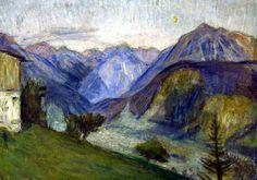 Otto Modersohn - Ein Abend im Gebirge
