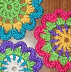 Japanese Flowers I used Caron Simply Soft Yarn. Here is the link to the pattern: http://byelizabethcat.blogspot.com/2011/02/i-make-my-japanese-flowers-like-this.html