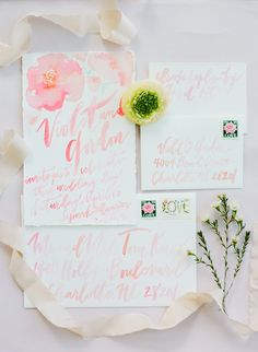 Bohemian style wedding invitations are some of the most romantic, delicate touches in this affair.