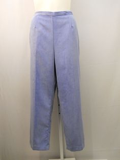 ac074a07015 PLUS SIZE 22W Women s Corduroys Pants ALFRED DUNNER Blue Proportioned  Medium  AlfredDunner  Corduroys Corduroy