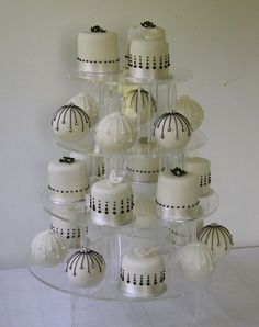 Image detail for -Black and White mini cakes and baubles