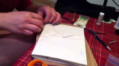 Medieval Book Binding Process Part 1-Brief, but interesting beginning bookbinding tutorial done by a student. Free to share on social media.
