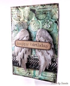 Made by Sannie: Spread Your Wings Birthday card with video tutorial - #sssmchallenge - Spread Your Wings this week @Simonsaysstamp Monday Challenge!