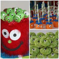 Z's birthday ideas-Cute monster party food ideas!