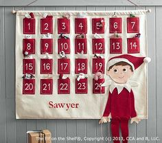 The Elf on the Shelf® Advent Calendar | Pottery Barn Kids Anticipation is part of the joy of Christmas. Advance the felt candy cane one pocket at a time to help your child understand when the big day will come.