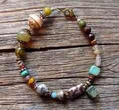 OOAK Beaded BraceletSierra by lstaubin on Etsy, $15.00