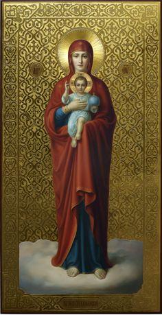 Валаамская икона Богородицы, академический стиль