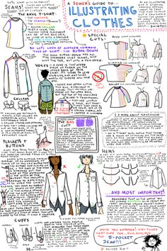 heysawbones: icarusicarus: OH GOSH! This is one of the most useful things I have ever come across since I always, ALWAYS draw in seams * O* (click-through) I wish this was a little less stylized, but still - what a wealth of information! Drawing Lessons, Art Lessons, Drawing Tips, Zentangle, Art Journal Techniques, Sketchbook Inspiration, Drawing Clothes, Doodle Drawings, Art Tutorials