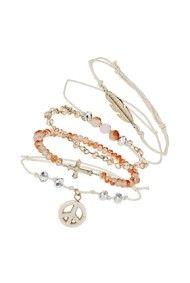 Cross Heart Leaf Bracelet Pack %C2%A312.50