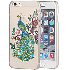 iPhone 6 Plus Case, iPhone 6S Plus Case, iYCK Crystal Diamond Rhinestone Hard Plastic Rubber Snap On Shell Back Skin Case Cover for Apple iPhone 6 /6S Plus (5.5) - Peacock Floral