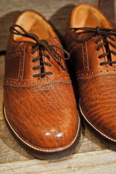 These I like. Men can have a pile of shoes too!  Denver - 100% North American Bison - Saddle Oxford