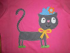 LA-Shirt-mit-Katze-mit-Hut-Applikation-Gr-122-Dawanda-selfmade-Kindertraumland