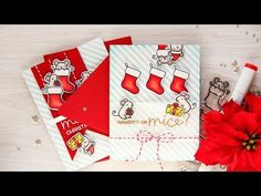 Simon Says Stamp | Have a Merry Christmouse Card + Video. Cyber Monday Blog Hop + Giveaway | | Yana Smakula