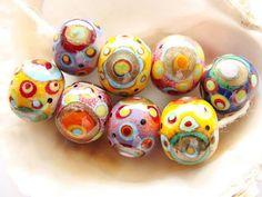 8 Lampwork Beads by IrinaS on Etsy, $52.00
