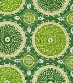 Home Decor Print Fabric-Waverly Bohemian Swirl Jade
