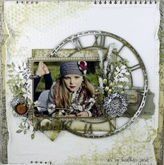 Art and life: Believe - gorgeous single-photo scrapbook layout Heritage Scrapbook Pages, Vintage Scrapbook, Baby Scrapbook, Scrapbook Albums, Scrapbook Cards, Scrapbook Blog, Scrapbook Sketches, Scrapbook Page Layouts, Mixed Media Scrapbooking