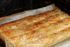 Kashkaval Cheese, Bread Recipes, Baking Recipes, Good Food, Yummy Food, Phyllo Dough, Savoury Baking, Cooking Gadgets, Cake Cookies