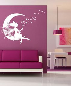 Another great find on #zulily! White Moon Fairy Decal Set #zulilyfinds