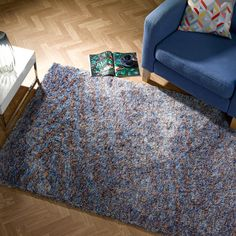 Kaleidoscope rugs have an unbelievable, super soft microfibre pile that offers a beautiful look and feel. #ShaggyRuggs #Design