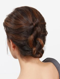Upside Down Braid to Bun   Women s World   Pinterest   Bun tutorials     18 Gorgeous Prom Hairstyles For Short Hair     A knotted updo