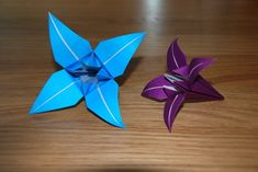 easy origami | Simple origami Lily Flower tutorial - U-handblog