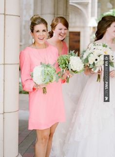 Neato - Bubblegum Pink Bridesmaids Dress   photography by   CHECK OUT MORE GREAT PINK WEDDING IDEAS AT WEDDINGPINS.NET   #weddings #wedding #pink #pinkwedding #thecolorpink #events #forweddings #ilovepink #purple #fire #bright #hot #love #romance #valentines #pinky
