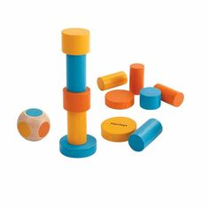 4133-2 Stack Game, Plan Toys, Rubber Tree, Travel Toys, Sensory Toys, Mini Games, Wood Glue, Wooden Blocks, Fine Motor Skills