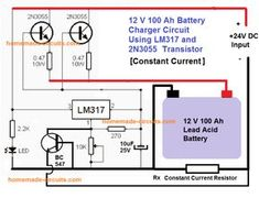 Lead Acid Battery Charger Circuits | Homemade Circuit Projects Lead Acid Battery Charger, Battery Charger Circuit, Cordless Drill Batteries, Ryobi Battery, Electronic Circuit Projects, Electrical Projects, Power Supply Circuit, Electronic Schematics, Lab