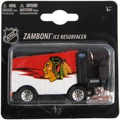 NHL Chicago Blackhawks 2010 1:64 Diecast Zamboni by Top Dog. $11.58. Officially licensed. 1:50 scale Zamboni. Durable die-cast construction. Team graphics adorn the zamboni. Proudly show off your team spirit in your home or office when you display this Top Dog NHL die-cast Zamboni. The 1:50-scale collectible is boldly decorated with the team graphics.. Save 23% Off!