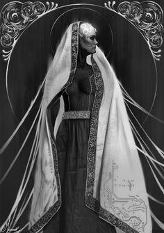 A Priestess, Magdalena Mieszczak on ArtStation at https://www.artstation.com/artwork/gnR0Z
